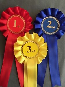 1st to 3rd 1 Tier Rosettes