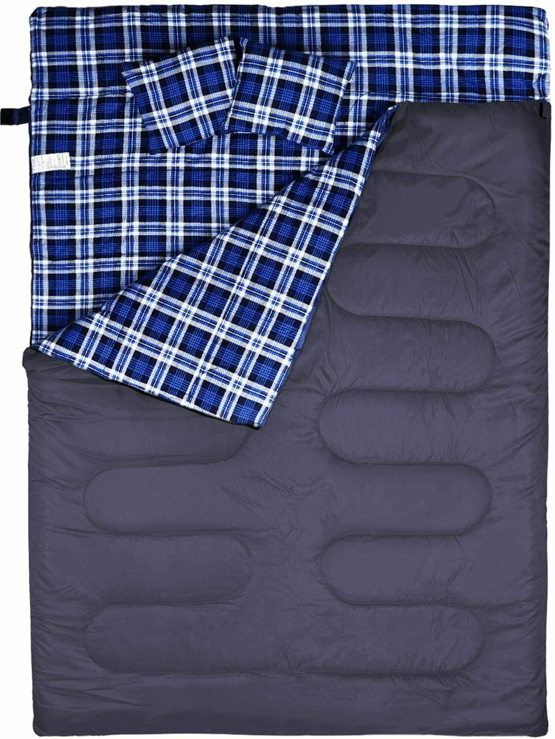 BESTEAM Cotton Flannel Double Sleeping Bag for Backpacking,