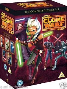 ❏ Star Wars Clone Wars Series 1 - 5 DVD Complete Collection Seasons ❏ 1 2 3 4 5