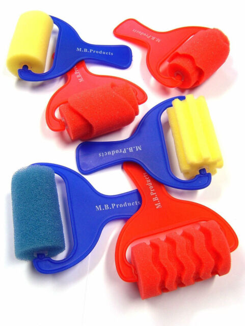 Major Brush Art & Craft Foam Rollers Assorted pack of 6 Shapes & Patterns 730-6