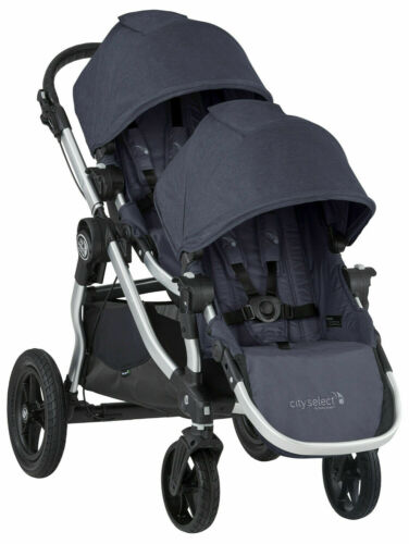 Baby Jogger City Select Twin Tandem Double Stroller with Second Seat Carbon