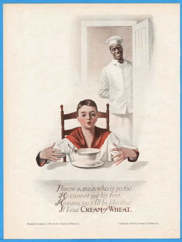 1913 Cream of Wheat Rastus Black Americana Galen Perrett Art Kitchen Decor Ad