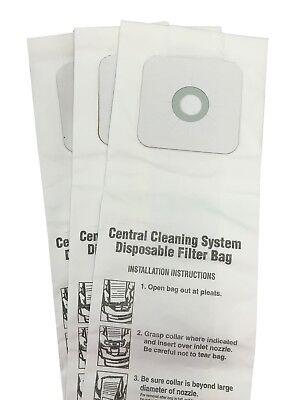 Central Vac Bags for Nutone 6 Gallon CV350, CV352, CV353, CV450, CV653 3-Pack