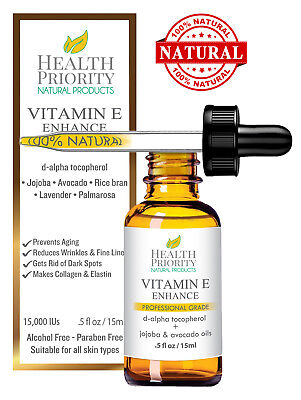 30000 Natural - 100% All Natural & Organic Vitamin E Oil For Your Face & Skin - 30000 IU