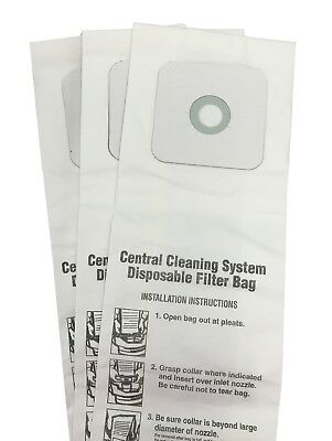 Central Vacuum Bags For Nutone 391  391 8  3918  44186 3 Pack