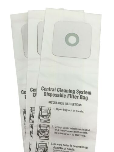 CENTRAL VACUUM BAGS for Nutone 391, 391-8, 3918, 44186 3-