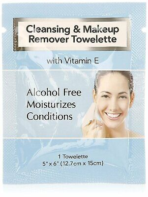 DIAMOND Facial Makeup Remover Wipes Hotel Individually Wrapped 500/cs BEST DEAL