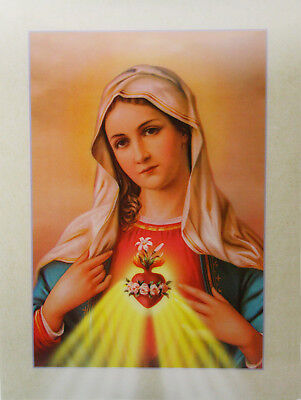 3D Lenticular Poster -Our Lady of Immaculate Heart -12x16 Print
