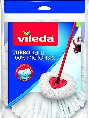 Mocio di ricambio Vileda in microfibra Wring&Clean Fiocco per pavimenti