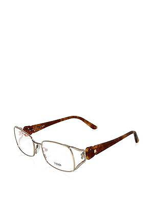 $337 FENDI Women ITALY BROWN EYEGLASSES FRAME GLASSES OPTICAL EYE LENS CASE FF