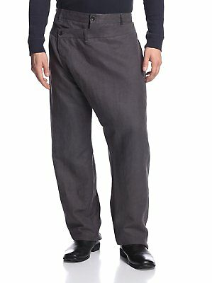 NEW Alexandre Plokhov Men's Double Front Charcoal Trouser Pants, Sz 46IT