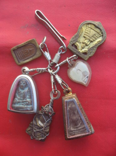 Magic Real Holy 6 Very Rare Items Talisman Top Protective Lucky Life Thai Amulet