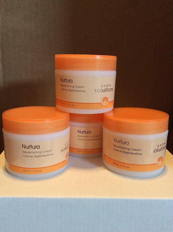 Lot Of 4 Avon Solutions Nurtura Replenishing Cream