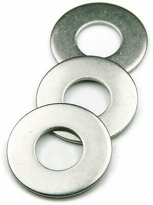 Flat Washers Stainless Steel 18-8 Sae Select Size Quantity On Drop Down