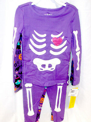 Joe Boxer Purple Skeleton Halloween Sleepwear 12M 18M 2T 3T 4T 5T NWT (Female Boxer Halloween Costume)
