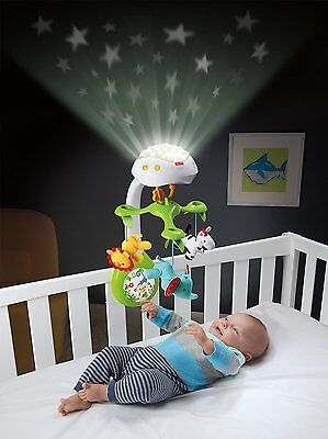 Mobile Projection Baby Music Crib Musical Fisher Price Toy Rainforest 3-in-1 New