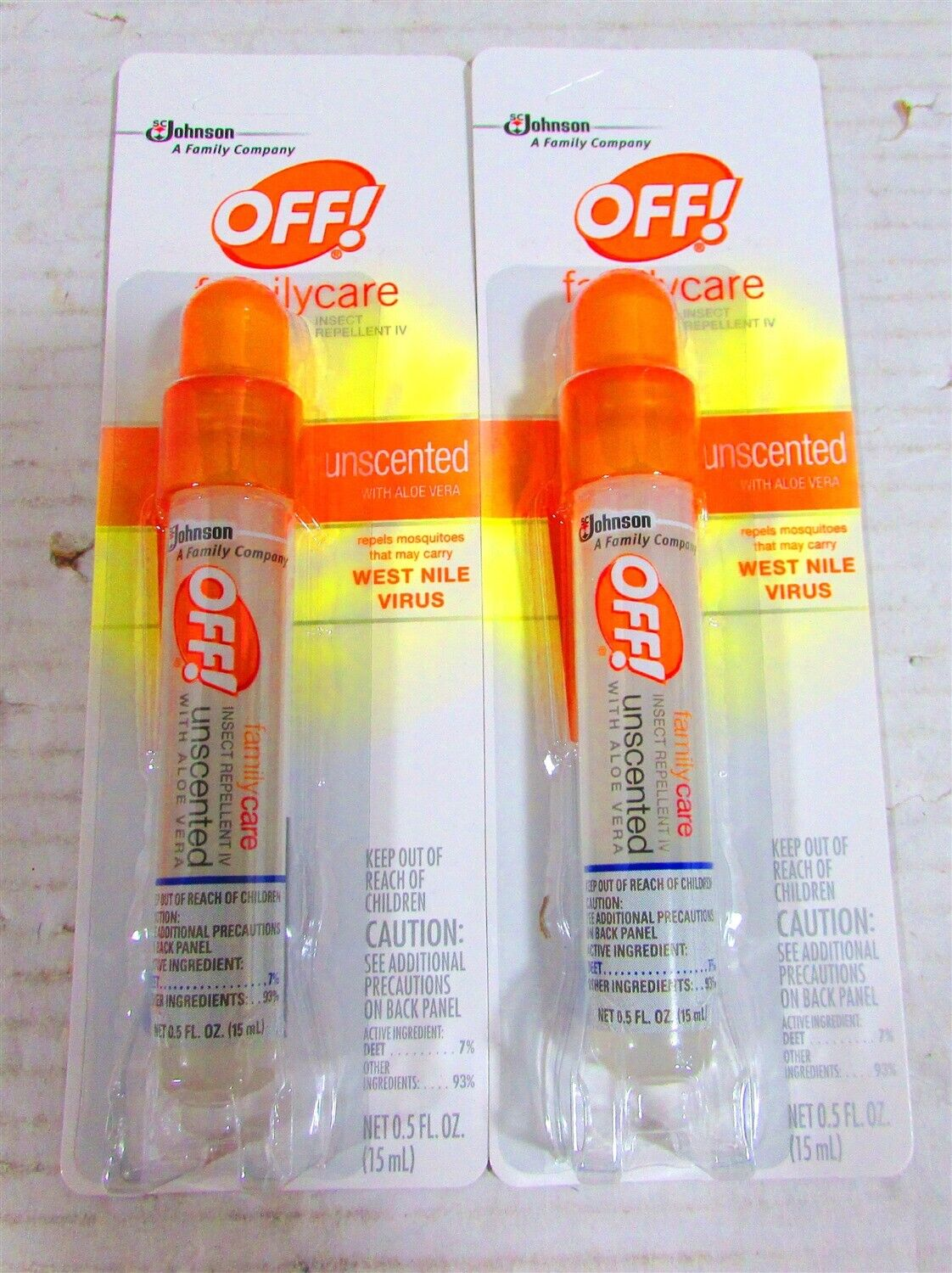 Off! Family Care Unscented Insect Repellent 0.5 fl. oz. Spra