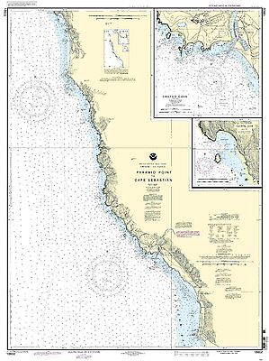 NOAA Chart Pyramid Point to Cape Sebastian Chetco Cove Hunters Cove 13th Ed. ()