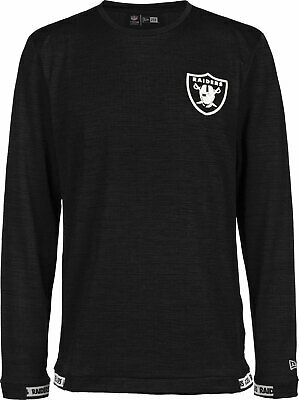 New Era Men's NFL Oakland Raiders Engineered Fit Black & White Long Sleeve Tee