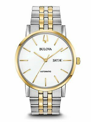 Bulova Men's American Clipper Automatic Two Tone Bracelet Watch 98C130