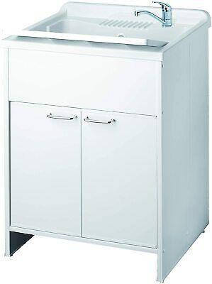 Mobile lavanderia Negrari Mobile Lavatoio Lavapanni 60x50x85 cm lavatoio resina