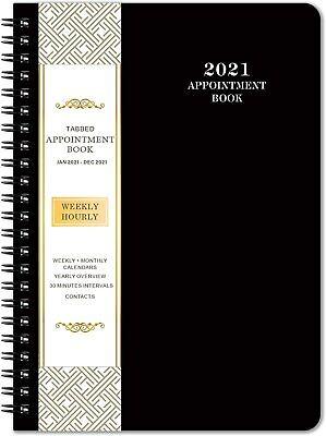 2021-2022 Weeklydailyhourly Planner Tabs Appointment Book Organizer Agenda
