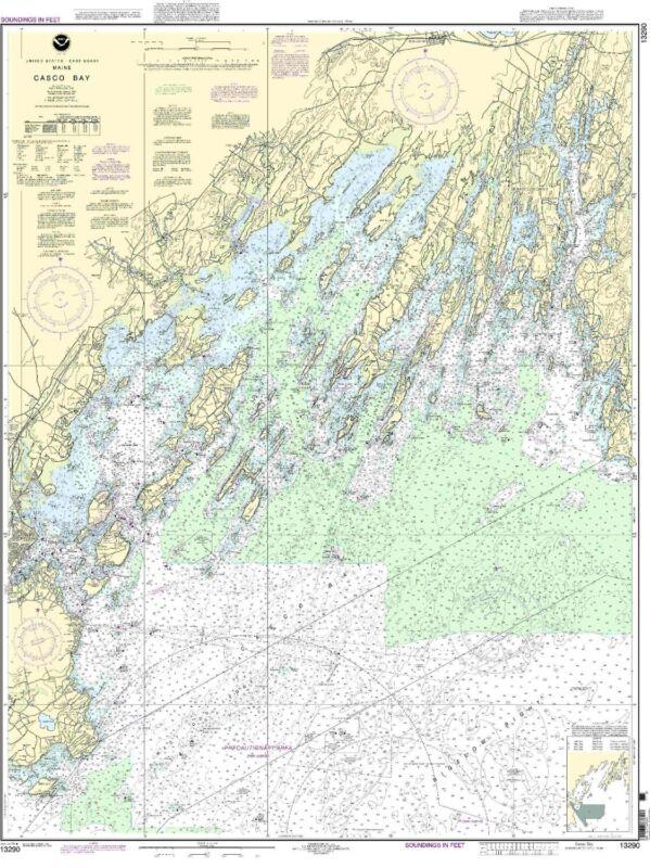 NOAA Chart Casco Bay 39th Edition 13290