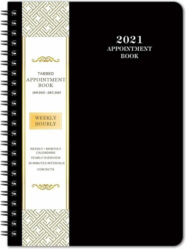 Agenda Planner Organizer 2021 Daily Weekly Monthly Schedule Appointment Book NEW
