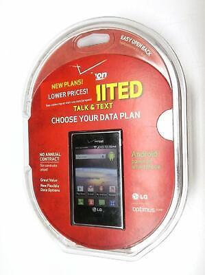 NIB LG Optimus Zone Android Cell Phone Prepaid Verizon Wireless Smartphone New