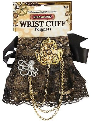 Ladies Sexy Lace Steampunk Carnival Fancy Dress Costume Outfit Wrist Cuff