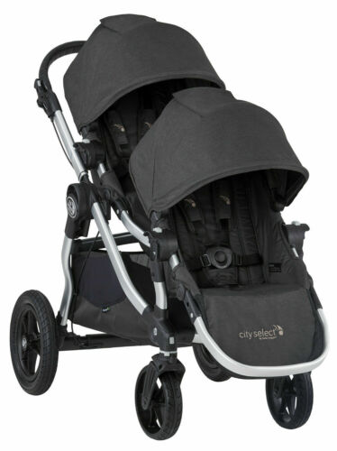 Baby Jogger City Select Twin Tandem Double Stroller w/ Second Seat Jet