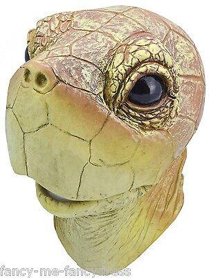 Herren Damen Schildkröte Gummi Gesichtsmaske Tier Halloween Kostüm Kleid Outfit