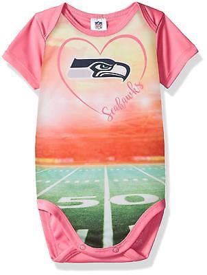5d8d2cadc NFL Seattle Seahawks Bodysuit Stadium Design Pink Size 3 Month Gerber