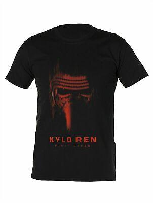 Licensed Mens Star Wars Black Kylo Ren T-shirt Gift S M L XL Top