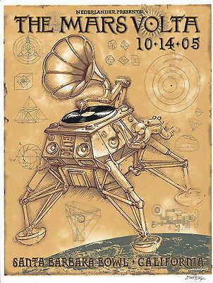 Emek Mars Volta 2005 SIGNED Santa Barbara Bowl Handbill