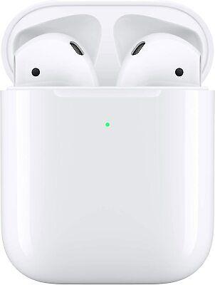 Apple AirPods 2nd Generation Wireless Charging Case (White) Siri Bluetooth Watch