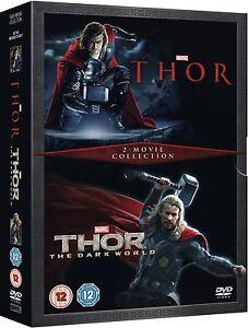 Thor Plus Thor The Dark World Double Pack Box Set Brand New DVD 8717418426385