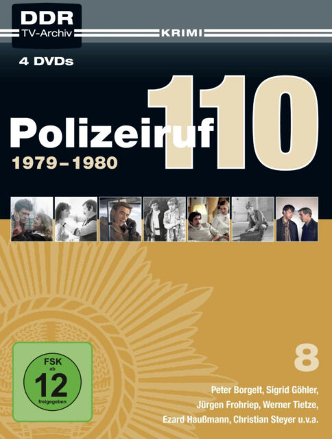 4 DVDs * POLIZEIRUF 110 - BOX 8 ~ 1979/1980 ( DDR TV-ARCHIV ) # NEU OVP MB ^