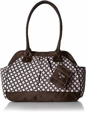 Baby Essentials Large Opening Satchel Diaper Bag, Pink