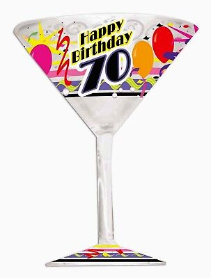 Champagne Glass 70 HAPPY BIRTHDAY colorful Balloons Confetti Party          6-4C (Champagne Colored Balloons)