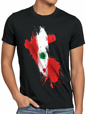 Peru T-Shirt Herren Fußball Sport WM EM Fahne National-Flagge Fan-Artikel