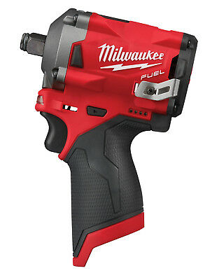 """Milwaukee M12 FUEL 1/2"""" dr Stubby Impact Wrench 250 ft-lbs, Bare Tool #2555-20"""