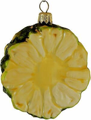 Pineapple Slice Tropical Fruit Glass Christmas Tree Ornament Poland 220068 ()