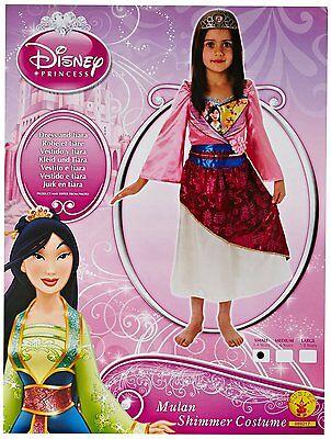 Süßes Rubie's Kinderkostüm Disney Princess Mulan Shimmer Größe 104 (3-4 - Mulan Disney Kostüm