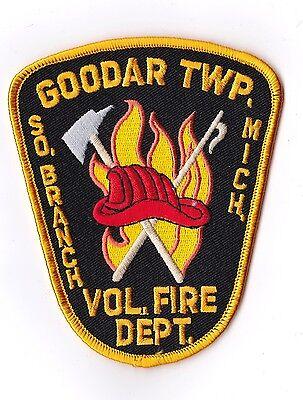 Goodar TWP Vol. Fire Dept. Michigan Firefighter Patch NEW!