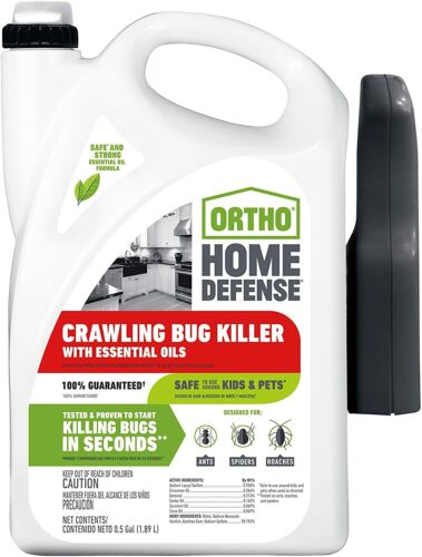 Crawling Bug Killer Home Insect Pest Control Indoor Spray Ortho Home Defense NEW