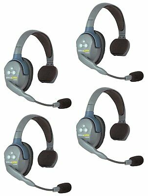 Eartec UL4S | UltraLITE 4 Person System with 4 Single-Ear Headsets