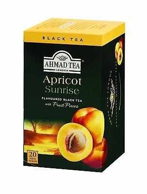New !  20 Foil Tea bags Ahmad Tea Ahmad Tea Apricot Sunrise for sale  Linden