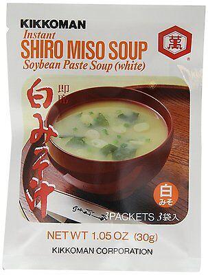 Kikkoman Instant Shiro Miso (White) Soup, 1 Bags (3 Packets) 1.05 oz (30g)