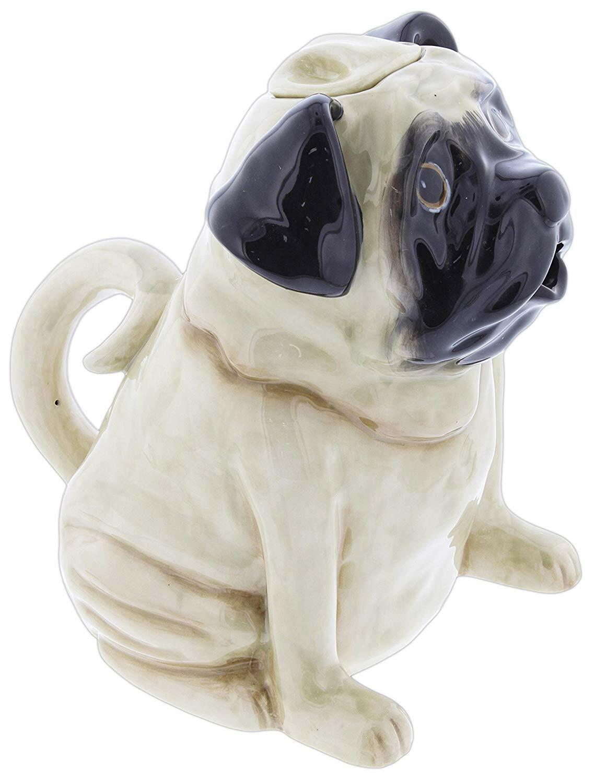 PUG Dog Hand-Painted Ceramic Teapot, by Blue Sky Ceramics